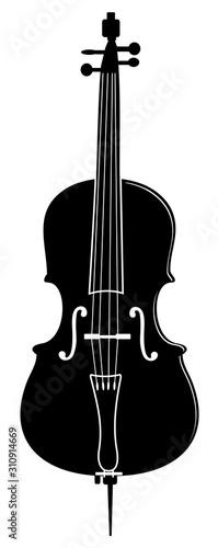 Canvas Print musical instrument cello