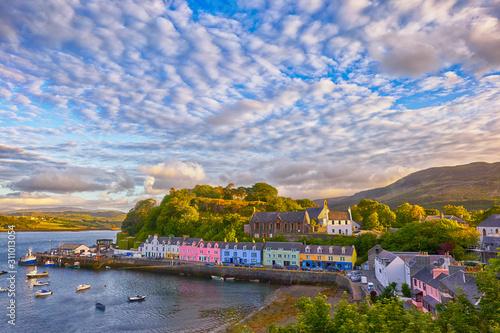 view on Portree, Isle of Skye, Scotland Fototapeta