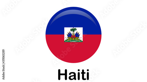 Fotografiet Flag of Republic of Haiti and formerly called Hayti is a country located on the island of Hispaniola, east of Cuba in the Greater Antilles archipelago of the Caribbean Sea