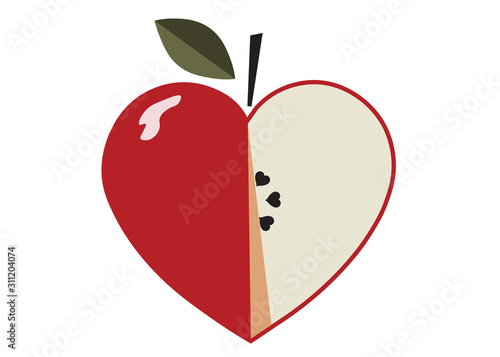 heart, valentine's day, love, apple