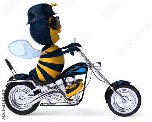 Fun bee - 3D Illustration Fototapeta
