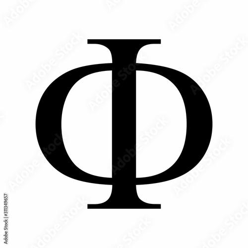 фотография Phi greek letter icon