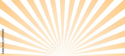 Fotografia Sun ray retro background vector burst light