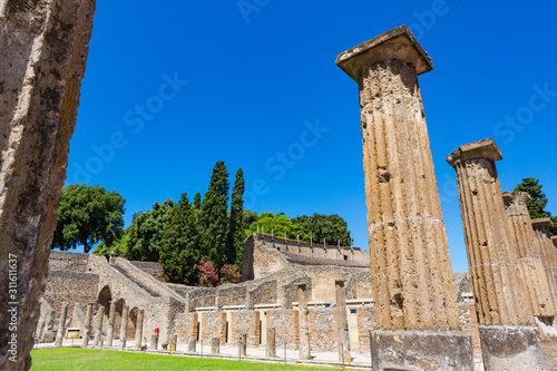 Canvas Print Pompeii, an ancient Roman city near modern Naples in the Campania region of Italy, that was buried under 4 to 6 m of volcanic ash and pumice in the eruption of Mount Vesuvius in AD 79