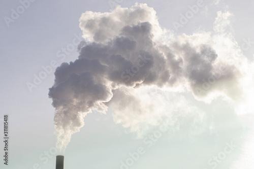 Smoke from smokestack in the sky Fototapete
