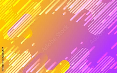 Fotografia オレンジとピンクのネオンカラーグラデーションデジタル背景