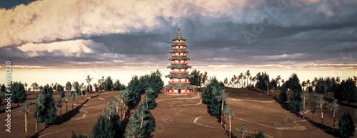 Fotografie, Obraz chinese pagoda