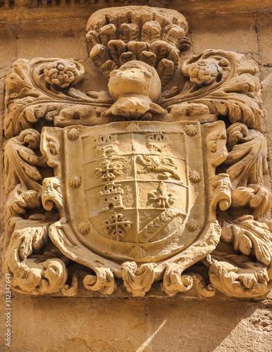 Beautiful Coat of Arms in Santo Domingo de la Calzada, La Rioja, Spain.