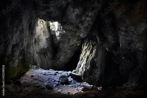 Tela Entrance to the Jaskinia Raptawicka cave in Polish Tatra Mountains