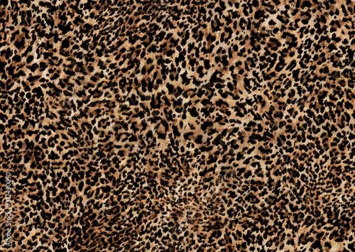 Canvas Print abstract leopard print texture design