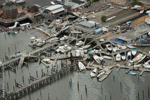 Stampa su Tela Hurricane Sandy, New York