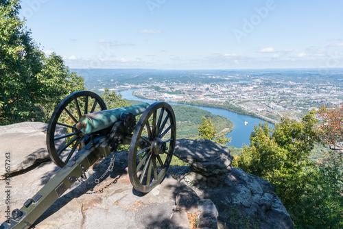 Fényképezés City Skyline of Chattanooga, Tennessee from Point Park
