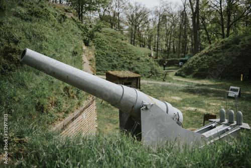 Photo World War 2 anti-aircraft gun in Swinoujscie, Poland.