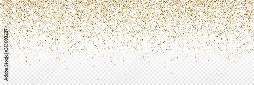 Canvas Print Gold Confetti