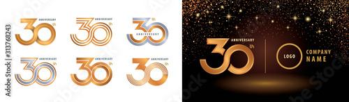 Photo Set of 30th Anniversary logotype design