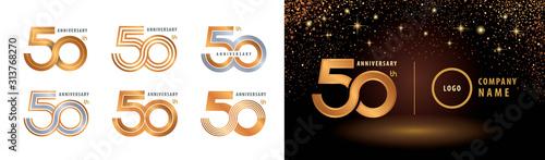 Photo Set of 50th Anniversary logotype design