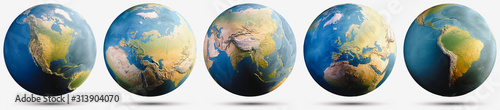 Photo Planet Earth globe map set