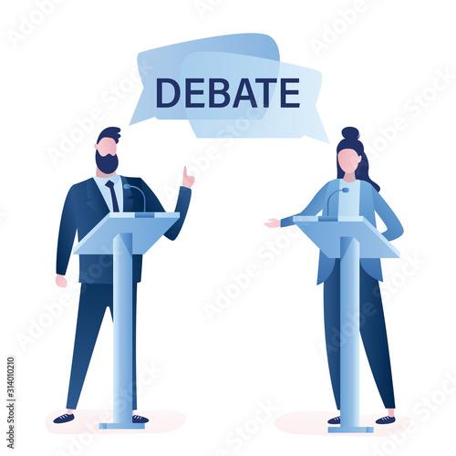 Photo Open debates before Vote