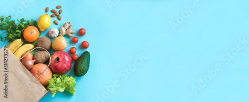 Canvas Print Healthy food background