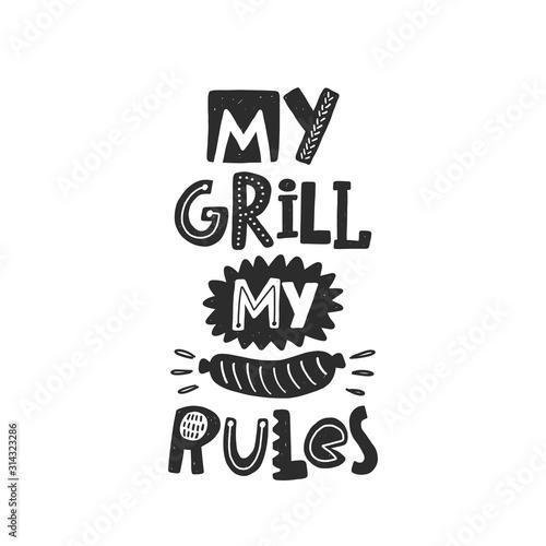 Obraz na plátně My grill my rules