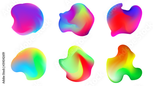Obraz na plátně Colourful gradient orbs for all kinds of branding projects, or just to create the artwork