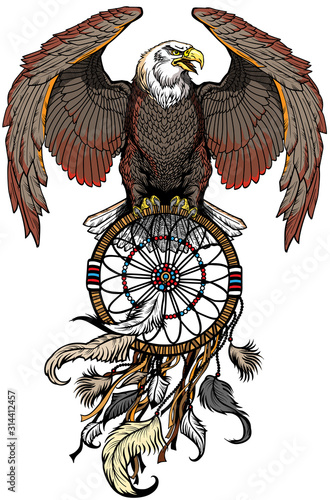 eagle with dreamcatcher Tapéta, Fotótapéta