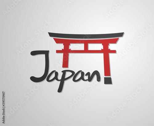Fotografie, Obraz Japan torii door icon