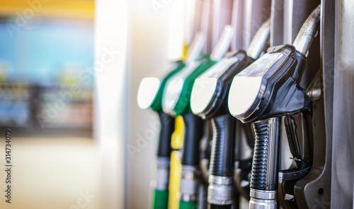 Tablou Canvas Colorfull fuel gasoline dispenser background