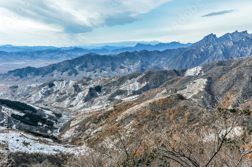 Fototapeta Great Wall of China in snow