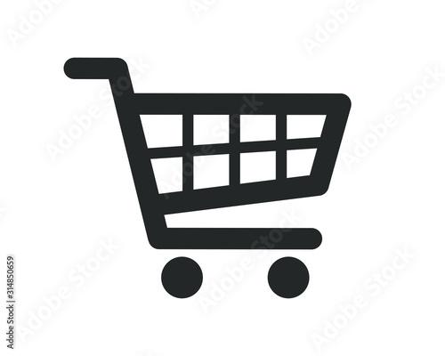 Fotografía Web store shopping cart icon shape button