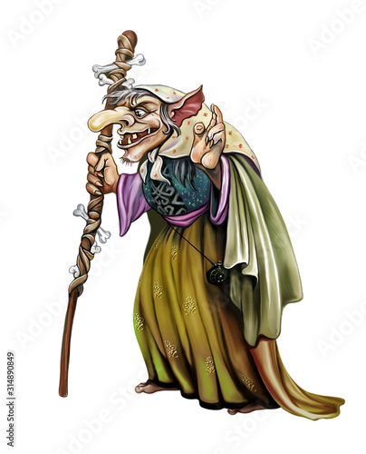 Fototapeta old witch hag
