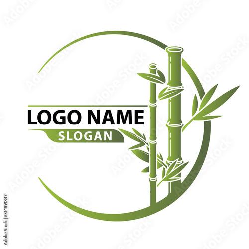 Bamboo Logo Template vector. Fototapeta
