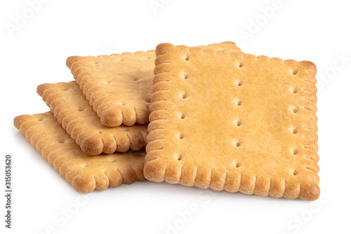 Stampa su Tela Butter biscuits on white.