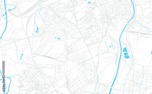 Obraz na plátně Ostrava, Czechia bright vector map