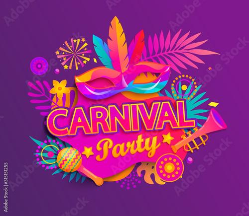 Foto Carnival party invitation card