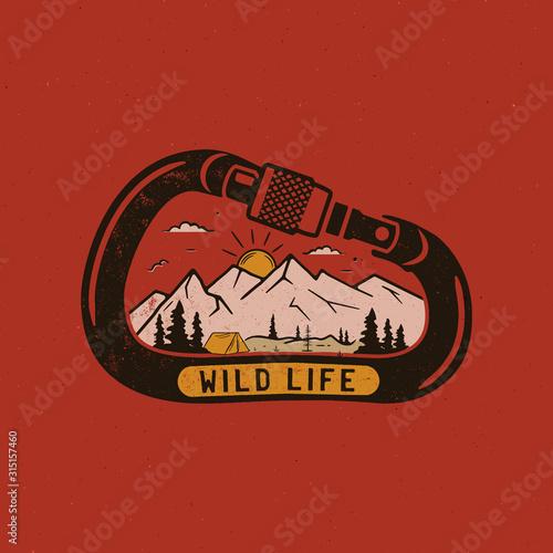 Fotografie, Tablou Wild life Logo Design print