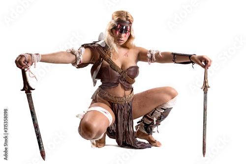 Fotografie, Obraz woman gladiator/Ancient warrior