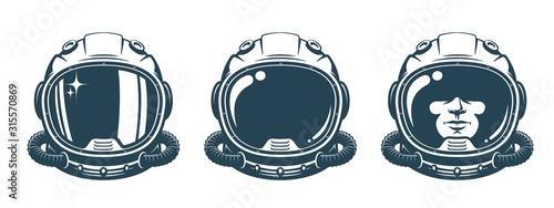 Fotografering Astronaut helmet - vintage set