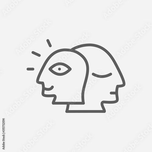 Obraz na plátně Alter ego icon line symbol