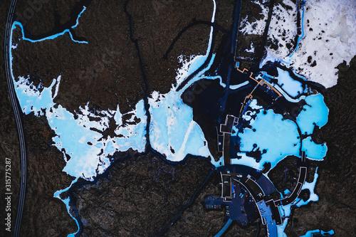 Wallpaper Mural blue lagoon iceland