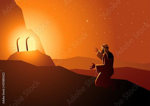 Fototapeta Moses received the Ten Commandments