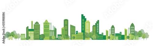 Obraz na plátne cityscape illustration