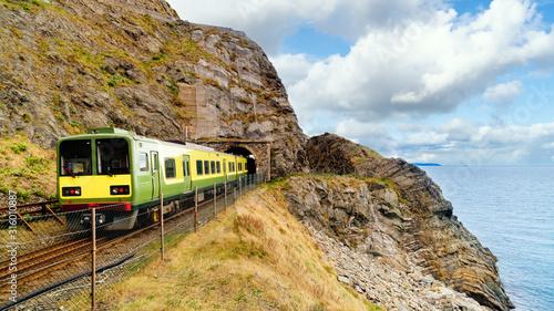 Fotografia, Obraz Closeup of train exiting a tunnel