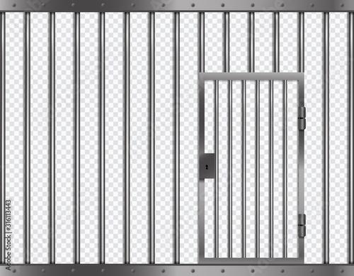 Photo Jail lattice with door in prison
