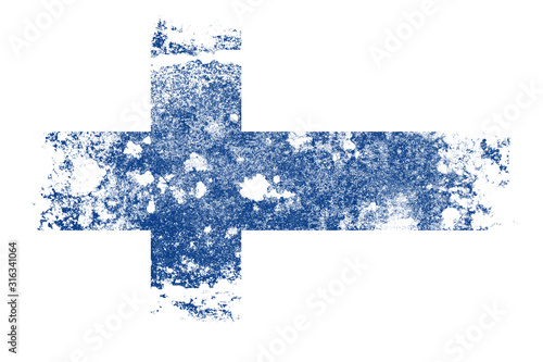 Valokuvatapetti flag of finland with texture. template for design