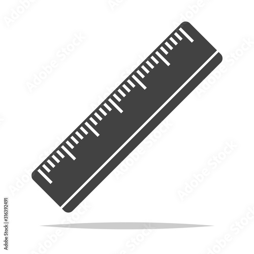 Photo Ruler icon vector isolated illustration
