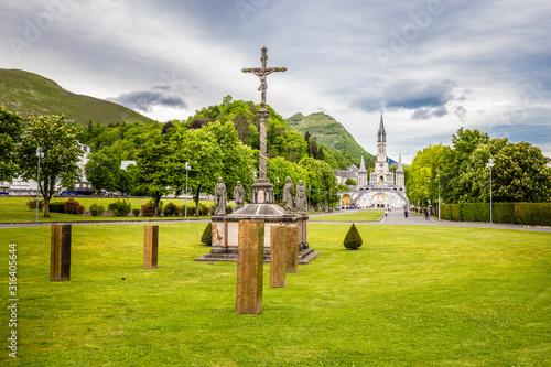 Fotografie, Obraz Sanctuary Of Our Lady Of Lourdes-Occitanie, France