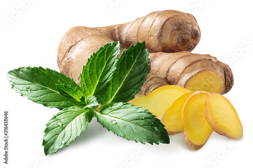 Canvastavla Ginger with mint, paths