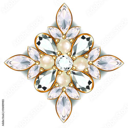 Fotografiet brooch jewelry, design element