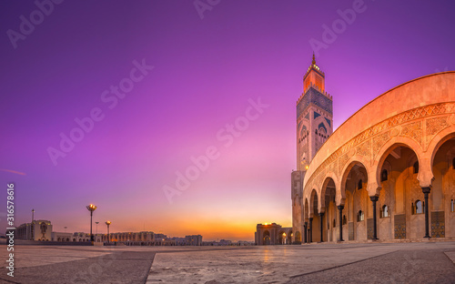 Wallpaper Mural The Hassan II Mosque is a mosque in Casablanca, Morocco